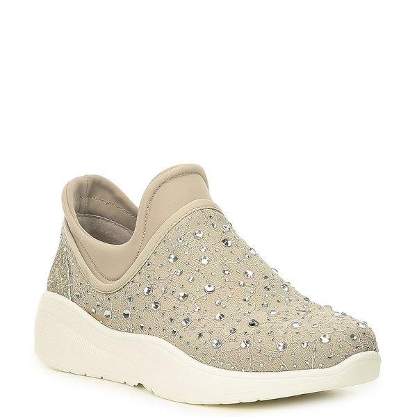 アントニオメラニー レディース スニーカー シューズ Jaxtyn Hotfix Lace and Jewel Embellished Sneakers Chalk