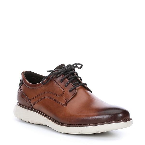 ロックポート メンズ ドレスシューズ シューズ Men's Kessler Leather Plaintoe Oxford Tan
