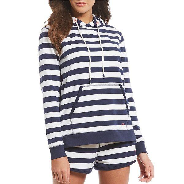 サウザーンタイド レディース ジャケット&ブルゾン アウター Soleil Striped Hoodie Nautical Navy