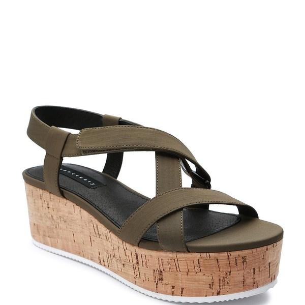 サンクチュアリー レディース サンダル シューズ Vienna Fabric Strappy Flatform Sandals Fatigue