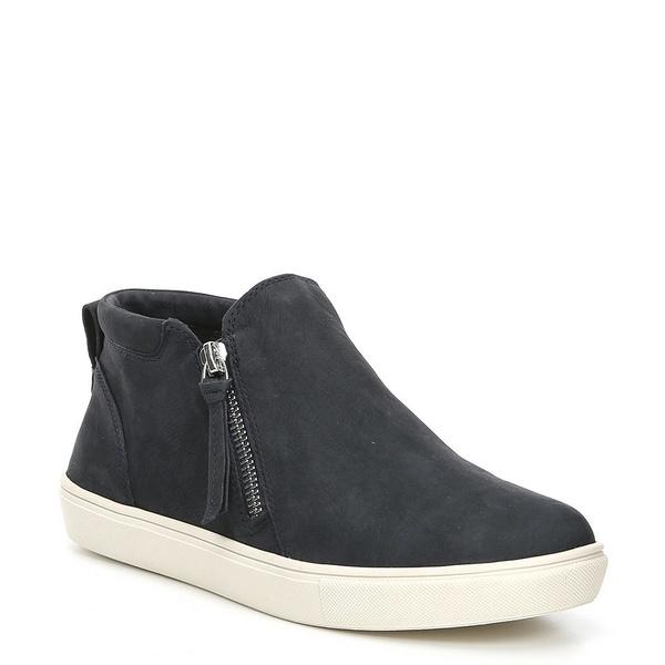 ジービー レディース スニーカー シューズ Ground-Break Double Zip Leather Sneakers Navy