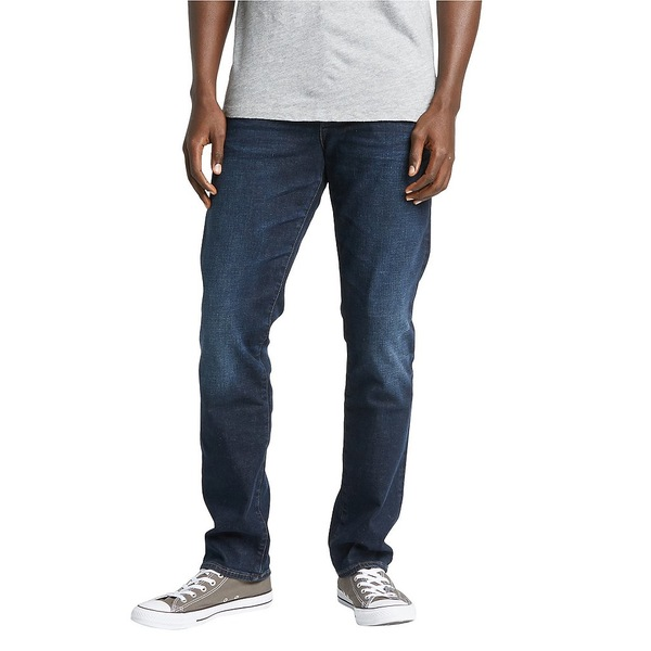 シルバージーンズ メンズ デニムパンツ ボトムス Machray Dark Wash Comfort Stretch Classic Straight Fit Jeans Dark Indigo