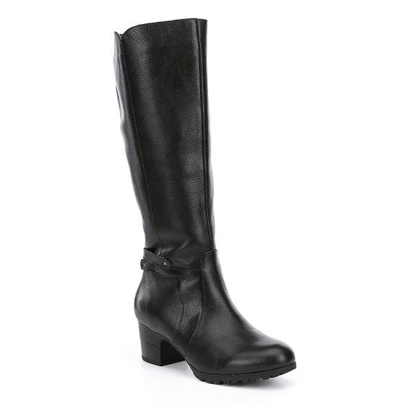 ジャンブー レディース ブーツ&レインブーツ シューズ Chai Water Resistant Wide Calf Block Heel Riding Boots Black