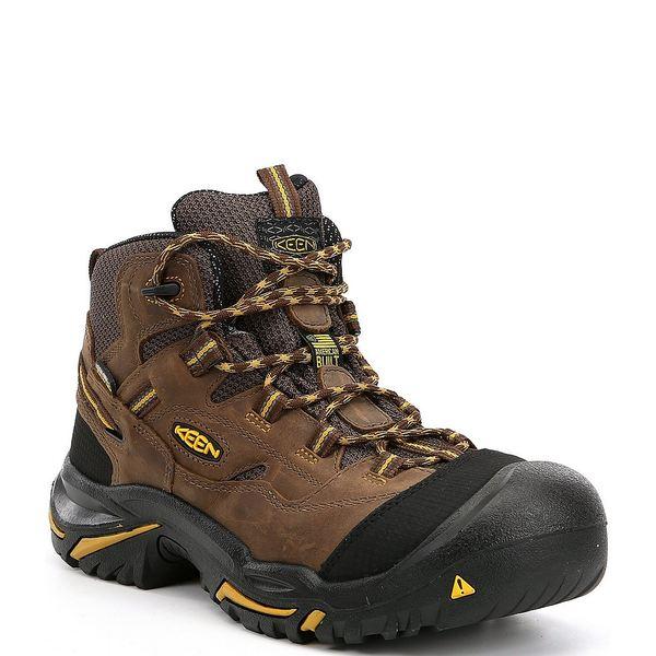 キーン メンズ ブーツ&レインブーツ シューズ KEEN Men's Utility Braddock Waterproof Steel Toe Work Boots Cascade Brown/Tawny Olive
