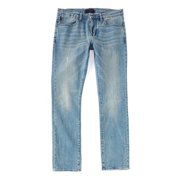 ジョンバルベイトス メンズ デニムパンツ ボトムス Star USA Bowery Slim-Straight Stretch Jeans Sky