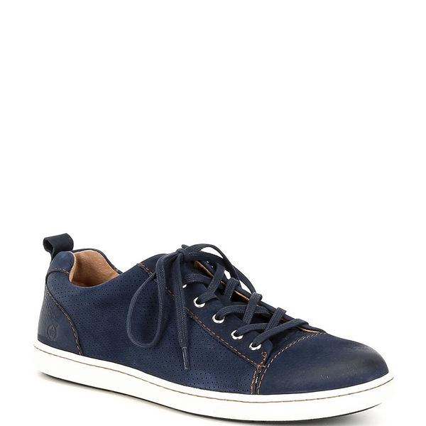 ボーン メンズ スニーカー シューズ Men's Allegheny Perforated Suede Leather Sneakers Navy