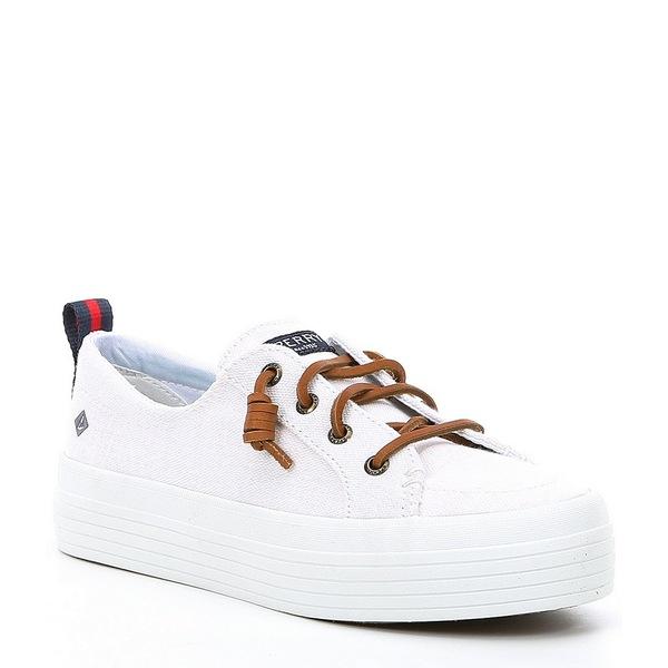 スペリー レディース スニーカー シューズ Women's Crest Vibe Triple Platform Sneakers White