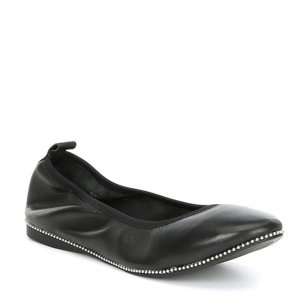 チェルシー&バイオレット レディース サンダル シューズ Ruby Leather Studded Ballet Flats Black