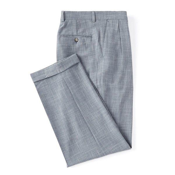 ラルフローレン メンズ カジュアルパンツ ボトムス Solid Relaxed Fit Pleated Linen Look Dress Pants Blue