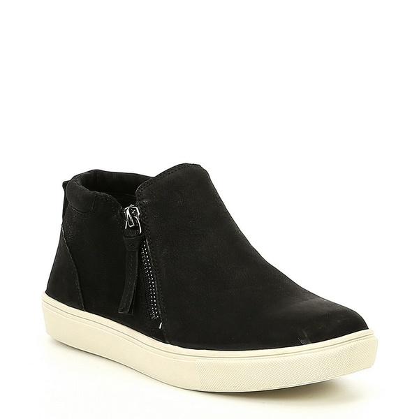 ジービー レディース スニーカー シューズ Ground-Break Double Zip Leather Sneakers Black
