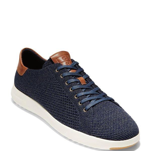 コールハーン メンズ スニーカー シューズ Men's GrandPr Tennis Stitchlite Sneakers Navy/British Tan