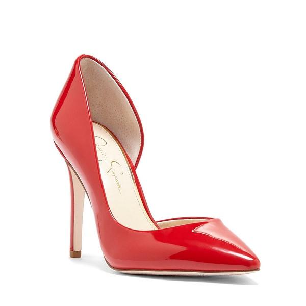 ジェシカシンプソン レディース パンプス シューズ Prizma Patent d'Orsay Pumps Red Muse