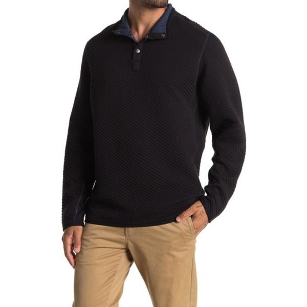 トッミーバハマ メンズ アウター パーカー スウェットシャツ BLACK 全商品無料サイズ交換 Quilt Snap Neck To Last Quilted Mock 全国どこでも送料無料 Pullover Fleece 2020A/W新作送料無料