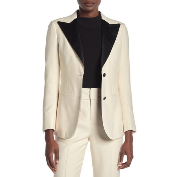 スイスタジオ レディース ジャケット&ブルゾン アウター Jay Silk Blend Peak Lapel Tuxedo Jacket OFF WHITE