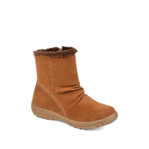 ジャーニーコレクション レディース ブーツ&レインブーツ シューズ Kodiak Faux Fur Lined Winter Boot COGNAC