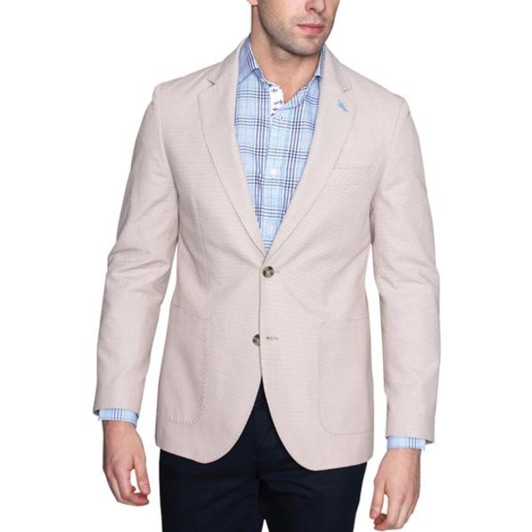 Notch Textured ジャケット&ブルゾン Sport Modern メンズ Two アウター Weave テーラーバード Button Fit KHAKI Basket Lapel Coat