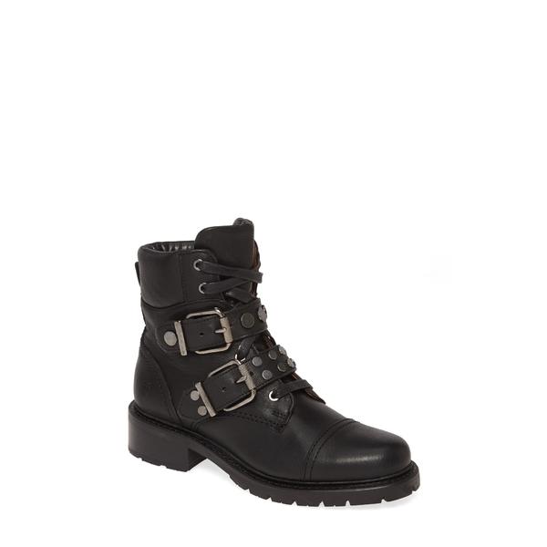 フライ レディース ブーツ&レインブーツ シューズ Samantha Studded Hiker Boot Black Leather
