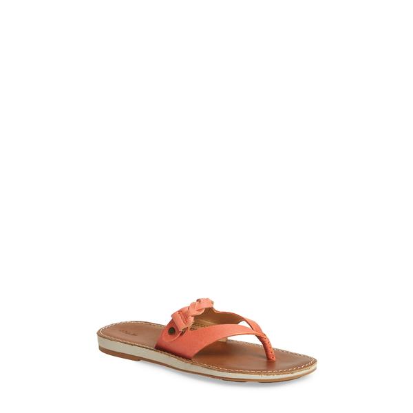 オルカイ レディース サンダル シューズ Kahikolu Flip Flop Peach/ Tan Leather