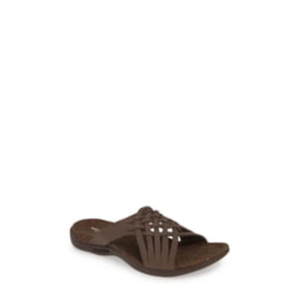 メレル レディース サンダル シューズ District Mahana Slide Sandal reddish‐brown Leather