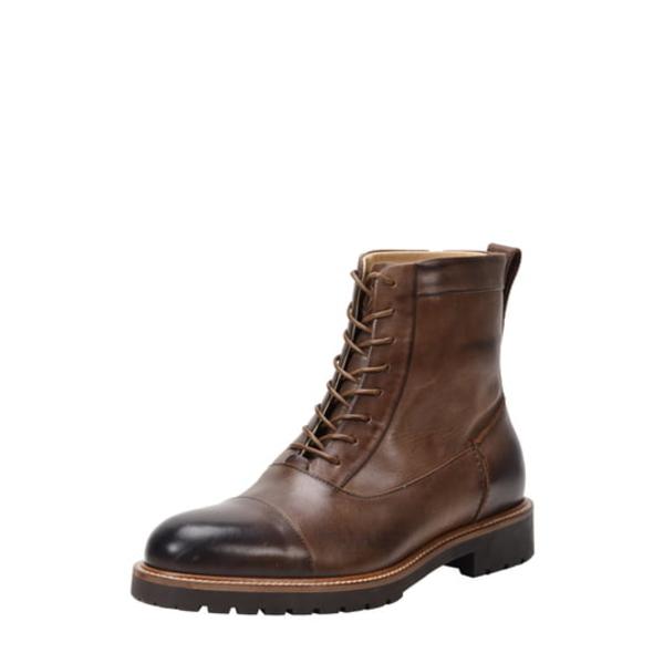 ロスアンドスノー メンズ ブーツ&レインブーツ シューズ Cap Toe Weatherproof Boot Brown