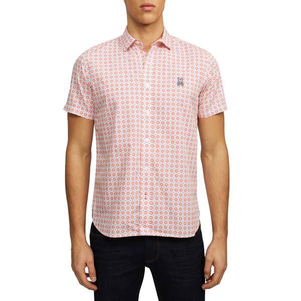 サイコバニー メンズ シャツ トップス Short Sleeve Button-Up Shirt Calypso