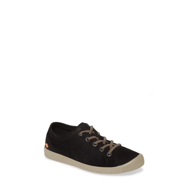 ソフチノス レディース スニーカー シューズ Isla Distressed Sneaker Black/ Black Leather
