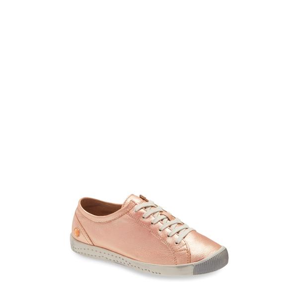 ソフチノス レディース スニーカー シューズ Isla Distressed Sneaker Blush Gold Idra Leather