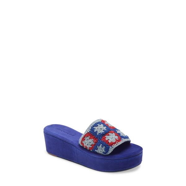 ジェフリー キャンベル レディース サンダル シューズ Mix-Up Platform Slide Sandal Red Blue