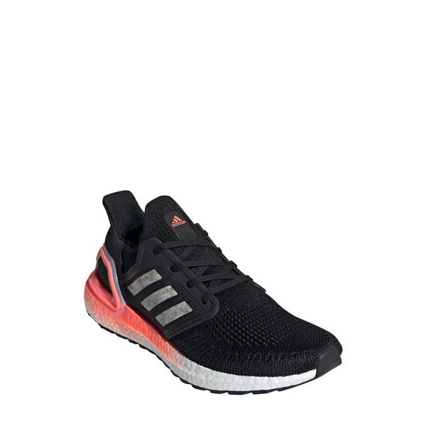 アディダス メンズ スニーカー シューズ UltraBoost 20 Running Shoe Core Black/ White/ Coral