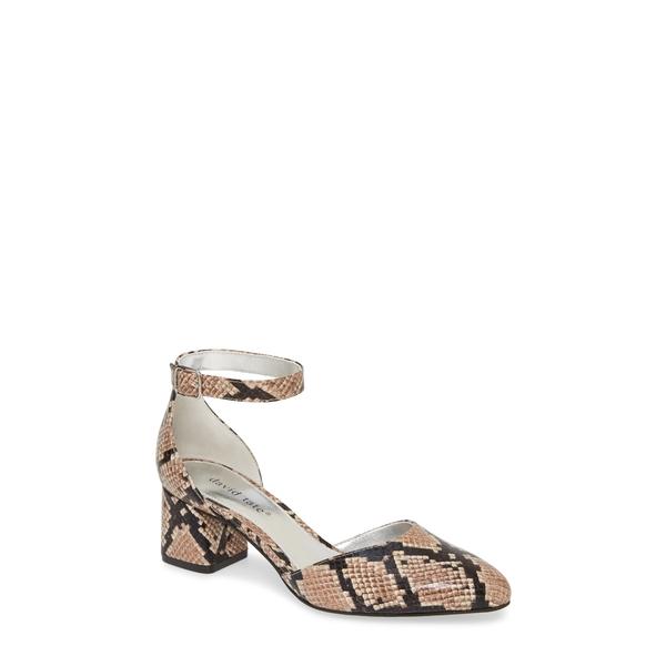 ダイビッドテイト レディース サンダル シューズ Adeline Sandal Camel Snake Print Leather