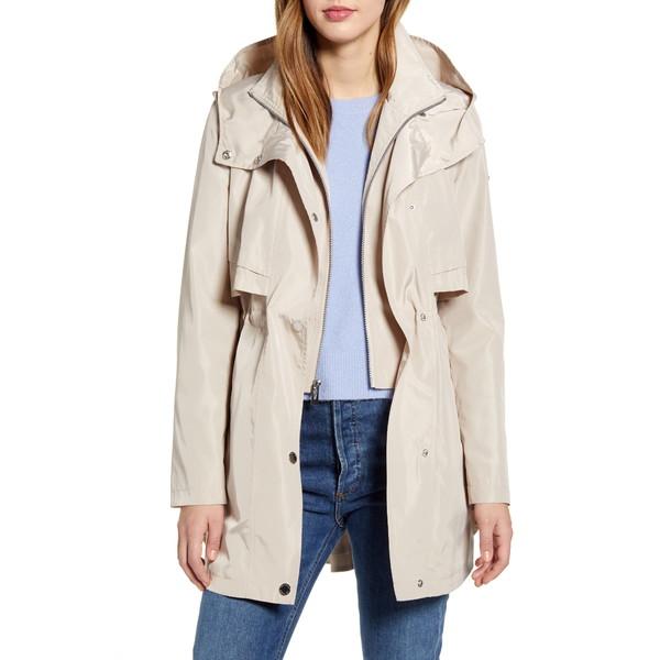 ヴィアスピガ レディース コート アウター Packable Hooded Raincoat Stone