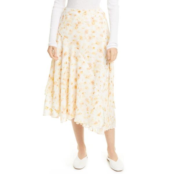 ヴィンス レディース スカート ボトムス Pressed Petal Asymmetrical Hem Skirt Off White