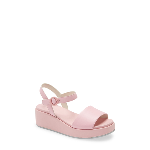 カンペール レディース サンダル シューズ Misia Platform Wedge Sandal New Pastel Pink Leather