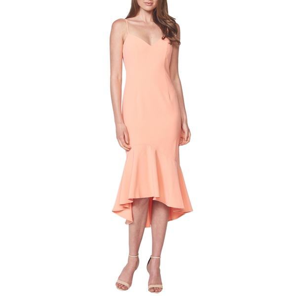 バードット レディース ワンピース トップス Lisandra High/Low Ruffle Dress Melon