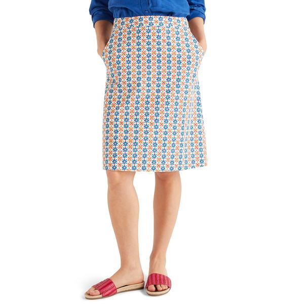 ボーデン レディース スカート ボトムス Francesca A-Line Skirt Ivory Plumeria