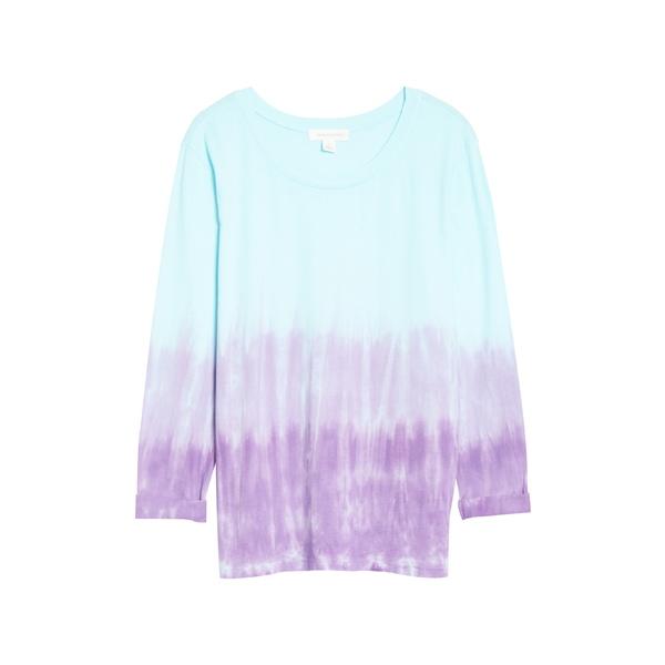 トレジャーアンドボンズ レディース シャツ トップス Tie Dye Long Sleeve Shirt Blue- Purple Combo