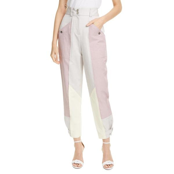 レベッカテイラー レディース カジュアルパンツ ボトムス Colorblock Linen & Cotton Blend Pants Multi Combo
