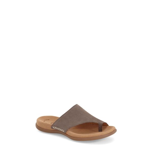ガボール レディース サンダル シューズ Toe Loop Sandal Fumo Nubuck Leather