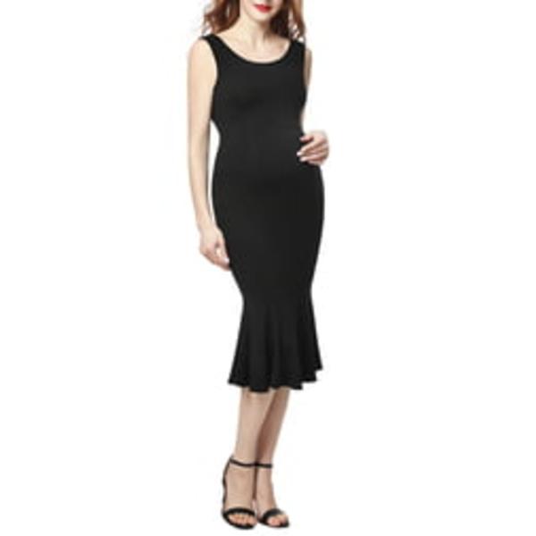 キミアンドカイ レディース ワンピース トップス Bria Maternity Mermaid Midi Dress Black