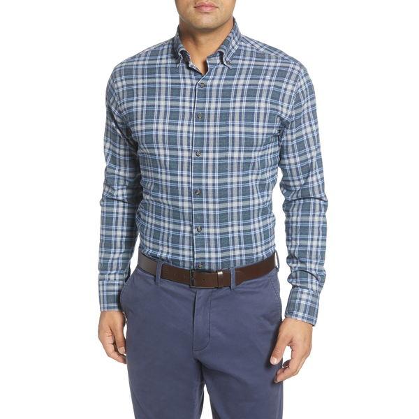 ピーター・ミラー メンズ シャツ トップス Douglas Regular Fit Check Performance Flannel Button-Down Shirt Lacinato
