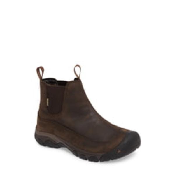 キーン メンズ ブーツ&レインブーツ シューズ Anchorage II Waterproof Chelsea Boot Dark Earth/ Mulch
