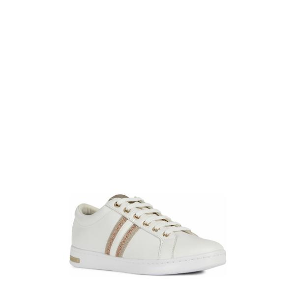ジェオックス レディース スニーカー シューズ Jaysen Sneaker White/ Rose Gold Leather
