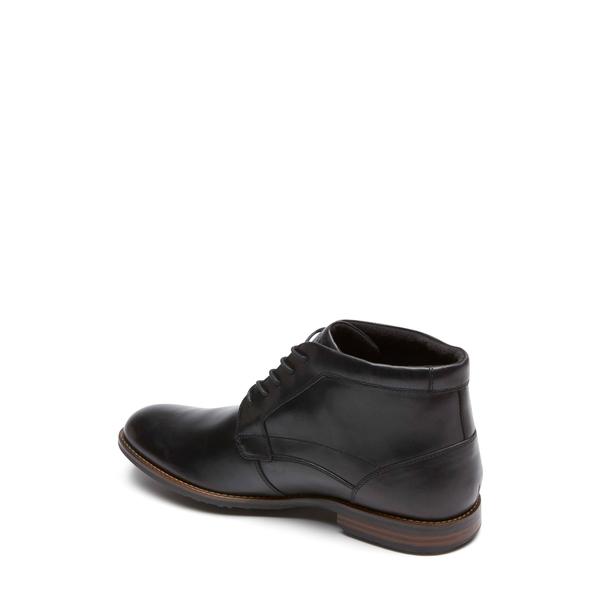 ロックポート メンズ ブーツ レインブーツ シューズ Dustyn Waterproof Chukka Boot Black LeatherknOP0wX8