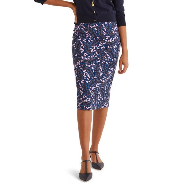 ボーデン レディース スカート ボトムス Kensington Stretch Cotton Pencil Skirt Floral Print