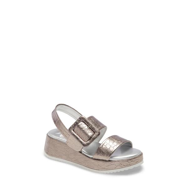 レベルズ レディース サンダル シューズ Sola 2 Platform Wedge Sandal Silver Faux Leather