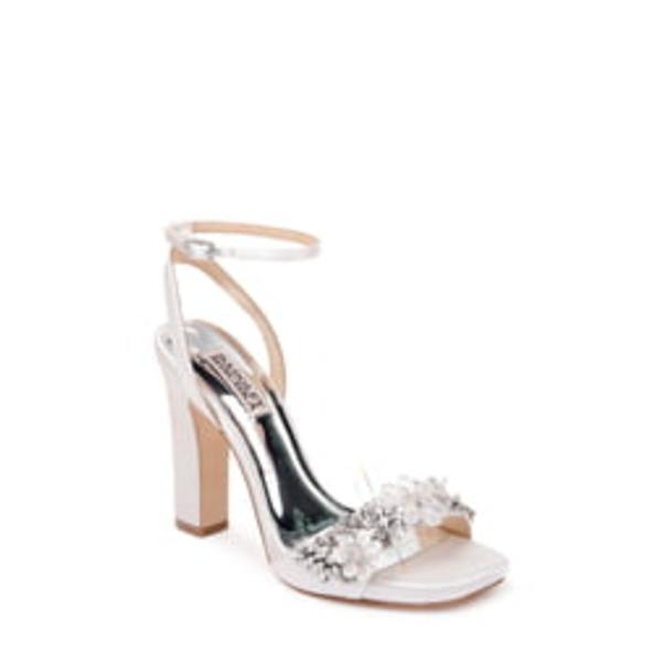 バッドグレイミッシカ レディース サンダル シューズ Badgley Mischka Alexa Ankle Strap Sandal Soft White Satin