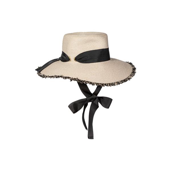 エリックジャヴィッツ レディース ヘアアクセサリー アクセサリー Squishee ョ Aruba Sun Hat Cream/ Black
