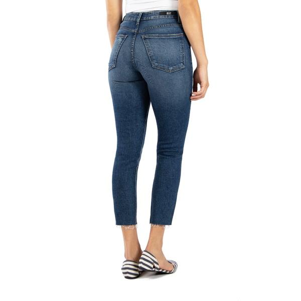カットフロムザクロス レディース デニムパンツ ボトムス Rachael Ripped Raw Hem Mom Ankle Jeans BountifulE9IWHD2
