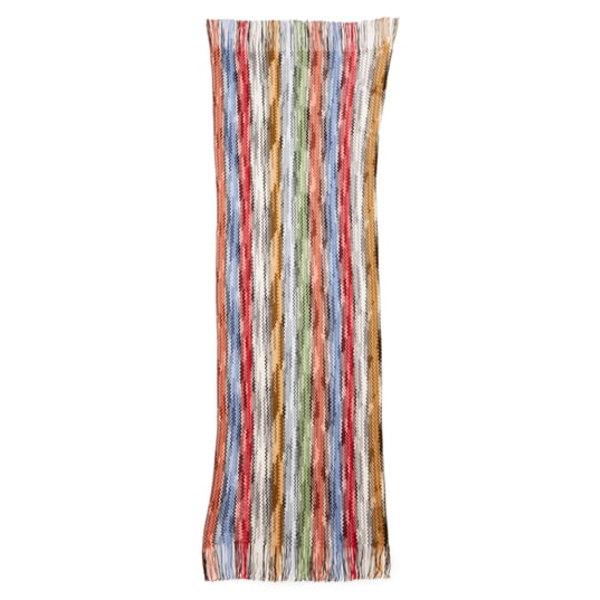 ミッソーニ レディース マフラー・ストール・スカーフ アクセサリー Space Dyed Stripe Wool Scarf Red/ Blue Multi