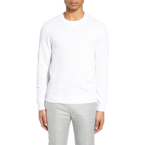 クラブ モナコ メンズ シャツ トップス Feel Good Sweatshirt White